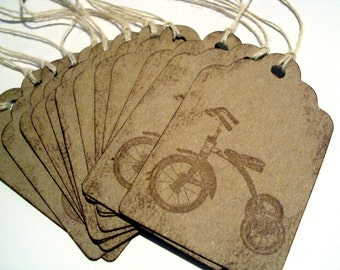 Vintage style Tricycle gift TAGS