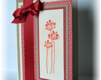 Red Blooms Blank greeting card Any Occasion