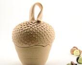 Acorn Sugar Jar - Treasure Box - Ready to Ship