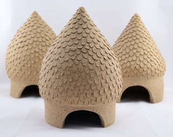 It Takes a Village - 3 Wee Toad Houses - Ready to Ship