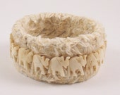 Soft Cuff Bracelet of Marching Elephants