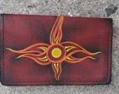 Business Card case (Fire) OOAK