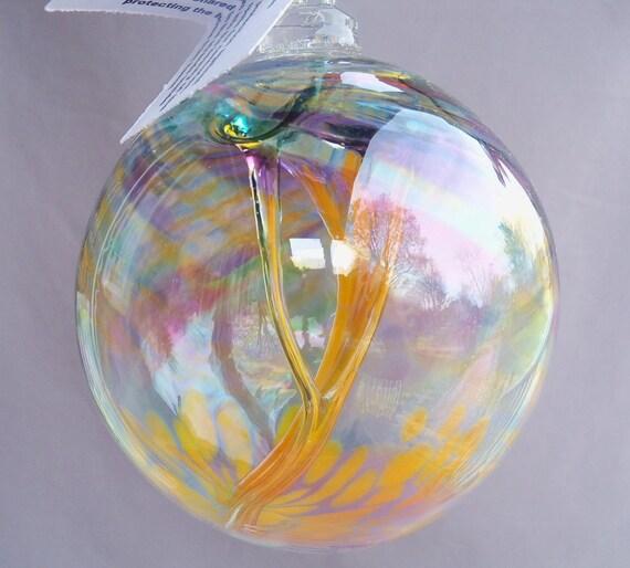Hand Blown Art Glass Witch Ball/Ornament/Suncatcher