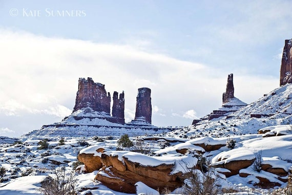 Monument Valley Winter Photo 5x7
