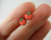 SALE SALE SALE Red apples stud earrings
