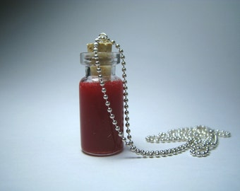 HALLOWEEN SALE The jar with blood pendant