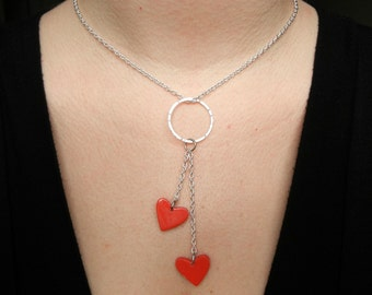 SALE SALE SALE Sweetheart sterling silver necklace