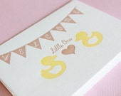Rubber Ducky Baby Love-Letterpress Printed Blank Card