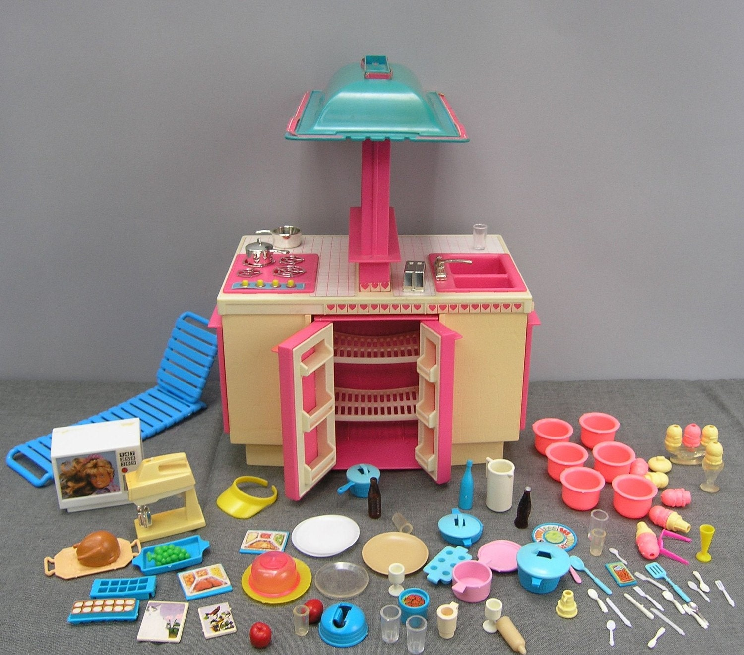 50% OFF STOREWIDE SALE Vintage 1980s Barbie Kitchen And Lot