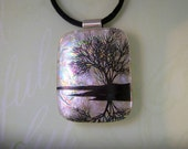 Fused Dichroic Glass Pendant, Solitude, Dichroic Necklace, Fused Glass Pendant, Fused Jewelry