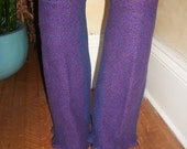 Harry and the Hippie Chic Upcycled Recycled Reconstructed Ooak Purple Leg Warmers
