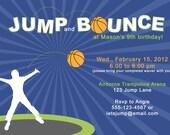 Jump & Bounce Birthday Party Invitation - Printable
