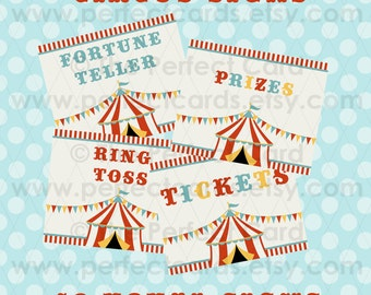 Circus Party Signs - 19 Total Signs - Printable