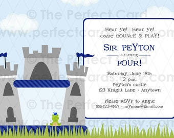 Castle Bounce House Party Invitation