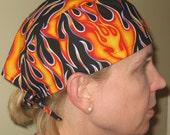 Scrub cap in Wild Flame Print
