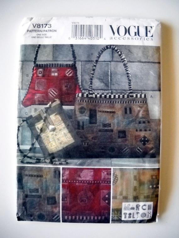 Vogue Accessories V8173 Marcy Tilton Handbags UNCUT