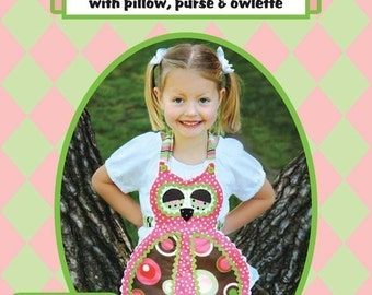 Hoot Owl Apron Pattern with Pillow, Purse and Baby Owlette Patterns included