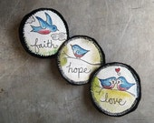Custom order for 5couches - Four sets of Fabric Art Magnets