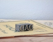 vintage letter press blocks - DAD