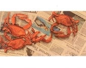 Cards of Crabs on Newspap...