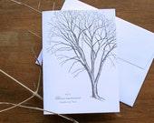 Trees of Winter - Letterpress Greeting Card - Christmas - Holiday