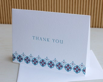 Moroccan Thank You Notes, Set of Six / SALE!!