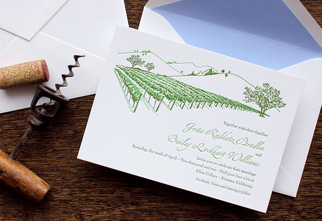 vineyard wedding invitations. special vineyard wedding invitations,
