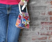 One of a Kind Upcycled Bag Boho Garden Pixie Pouch