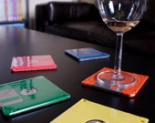 Floppy Disk Coasters - Rainbow - Add Some Geek To Your Decorating - As seen on Two and a Half Men
