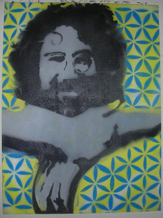 Canvas Painting - Stencil Jerry