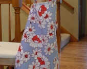 Nursing Cover (Blue with red and white Flowers)