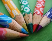 Handmade Mixed Set Rainbow Pencils by missIsa on etsy