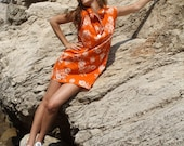 Shift Dress-Orange Tiger Print, 2010 Inventory Clearance-Ready to Ship