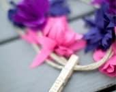 Girly Fabric Flower Garland