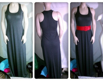 Women's Sexy, long maxi dress with racer back size x-small,small, medium, large, x-large