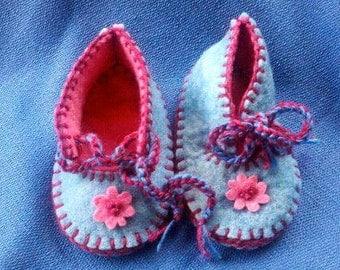 Waldorf Baby Slippers Flower Power