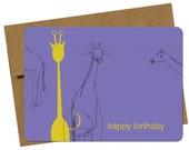 Haiti Relief - Birthday Giraffe, single card