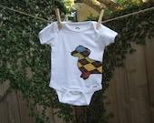 Wrap-Around Dachshund Tshirt/Onesie