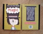 girls who draw magic postcard book