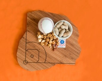 Citi Field Cutting Board In Bamboo 4th of july Gift Personalized Cutting Board Custom Cutting Board Wedding Gift for Couple