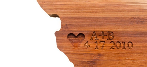 Custom cutting boards from AHeirloom on Etsy