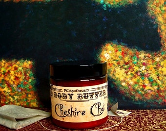 Cheshire Chai (body butter--chai tea, clove, nutmeg, cinnamon, frankincense)