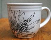 Handpainted  Mug - Lotus