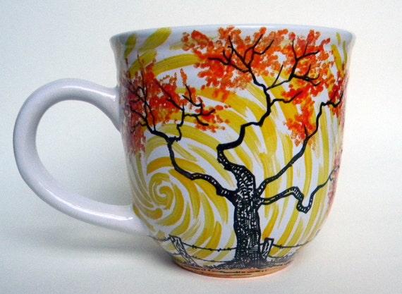 Handpainted  Mug - Vertigo