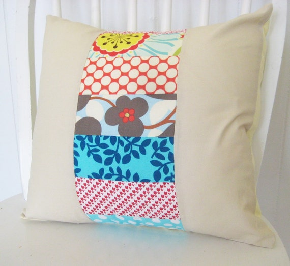 Patchwork Pillow 16x16 cover FREE SHIPPING