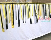 Bumble Bee Ribbon Garland, Bee Party, Baby Shower, Baby Revealing Party, Spring Party, Ready to ship