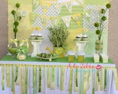 Happy Birthday Mini Banner - Lemon Lime Banner, Lemonade Stand, Spring Banner, Daisy Party, Sunshine Party, Little lady, Yellow
