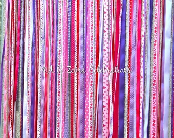 Ribbon Garland Backdrop, Ready to ship, Cupcake Party, Sweet Shoppe, Party Shoppe, Winter Candyland, Holidays, Valentine's Day Party,