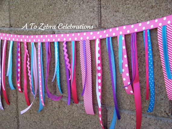 Cupcake Ribbon Garland, Winter Candyland, Party Shoppe, Gumball, Ready to ship, 1st Birthday, My Little Pony, A to Zebra Celebrations