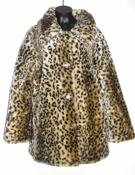 SUMMER SALE- Furry Leopard Print Coat- Party girl